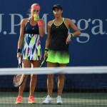 Kristina Mladenovic (à gauche) a renoué avec la victoire à Saint-Petersbourg après plus de 6 mois de disette ; tandis que sa compatriote et ancienne partenaire de double, Caroline Garcia (à droite), N°7 mondiale, a essuyé une défaite cuisante face à la 450e joueuse mondiale en Russie !