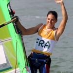 Charline Picon a remporté la médaille d'or aux JO de Rio l'été dernier. Elle espère renouveler cette performance dans quatre ans au Japon.