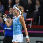 La Fédération française de tennis (FFT) a salué l'engagement de Kristina Mladenovic auprès de l'équipe de France de tennis depuis 2012.