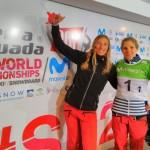 Chloé Trespeuch et Nelly Moenne Loccoz ont remporté la médaille d'or de la Team Event, devant leurs compatriotes Charlotte Bankes et Manon Petit.