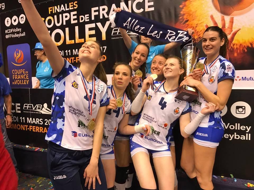 Venelles Pays d'Aix remporte la Coupe de France de volley