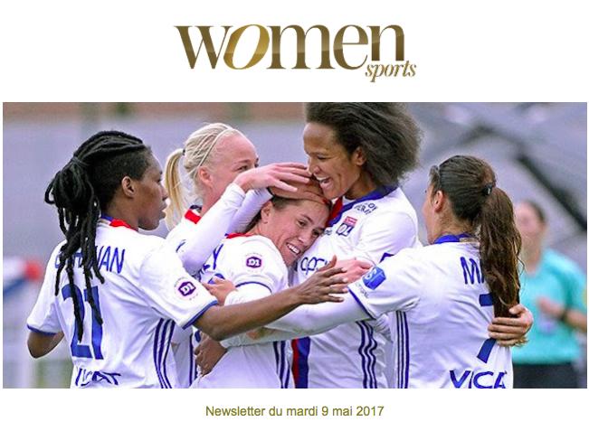 La newsletter Women Sports du mardi 9 mai 2017