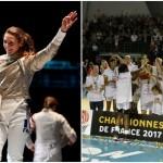 Manon Brunet (à gauche) a terminé troisième de l'étape de Coupe du monde disputée à Tunis ce week-end tandis que les basketteuses de Villeneuve d'Ascq (à droite) ont remporté leur premier titre de championnes de France.