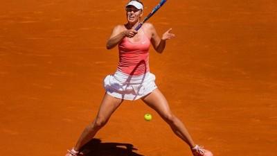 Abandon de Sharapova au deuxième tour à Rome