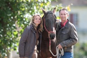 Caroline Avon a partagé une escapade équestre avec Thierry Lhermitte (c) Pierre Costabadie - Equidia Life