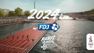 FDJ soutient la candidature de Paris 2024 avec les «2024km by FDJ»