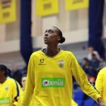 Sandrine Gruda revient en France après 10 années passées dans les meilleurs clubs de basket européens et américains. © Florent Larronde