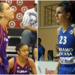 Diana Taurasi (à gauche) est devenue la meilleure marqueuse de la WNBA ce week-end tandis que les basketteuses serbes (à droite), championnes d'Europe en titre, ont très mal débuté l'Euro 2017.