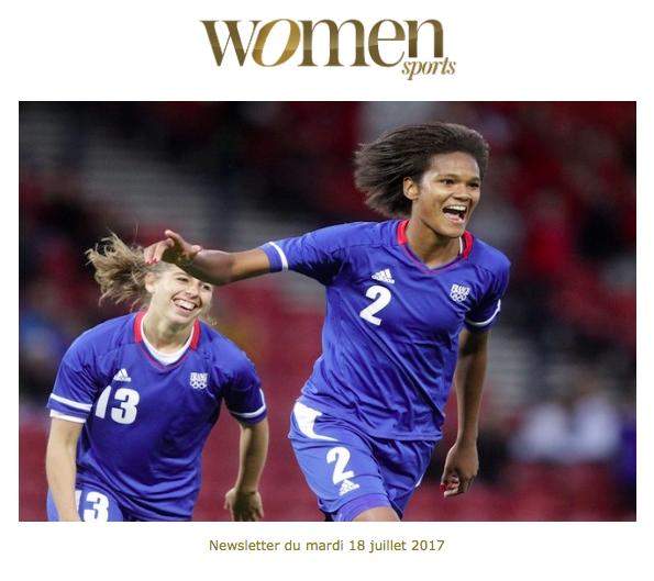 La newsletter Women Sports du mardi 18 juillet 2017