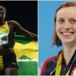 La Jamaïcaine Elaine Thompson (à gauche) semble sans concurrence sur l'épreuve du 100 mètres à quelques semaines des Mondiaux d'athlétisme tandis que rien ne semble pouvoir empêcher l'Américaine Katie Ledecky (à droite) de viser plusieurs titres mondiaux à Budapest à la fin du mois.