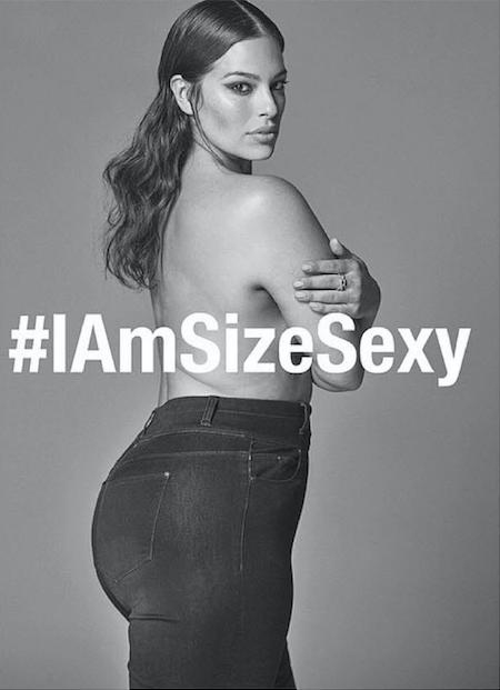 Le mannequin grande taille Ashley Graham est devenue l'une des principales icônes du mouvement «body positive». Photo DR/.