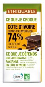 Un chocolat noir pur de Côte d'Ivoire 74 %, Equitable