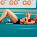 Ruth Beitia est la première Espagnole médaillée d'or olympique en athlétisme. (c) Barcex.