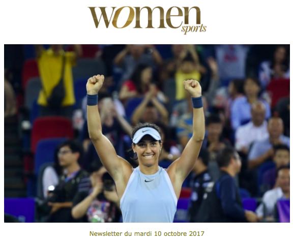 La newsletter Women Sports du mardi 10 octobre 2017