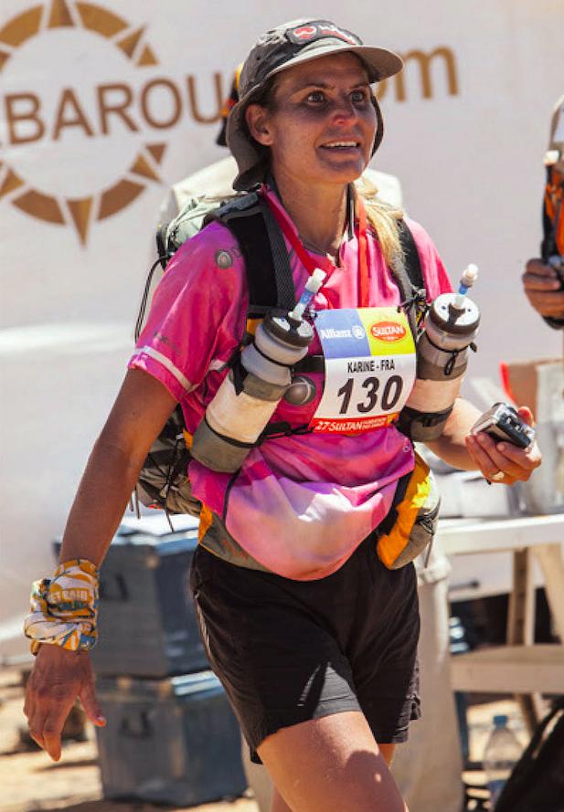 Karine a arrêté la compétition en 2012 en rentrant du Marathon des Sables. Photo DR/.