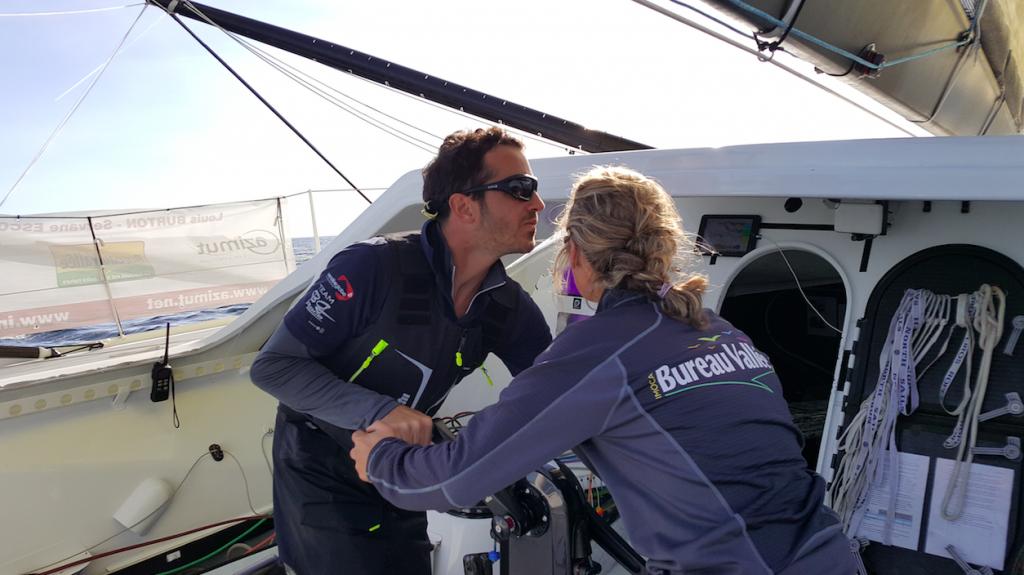 À bord, Servane et Louis se complètent : lui, c'est la vitesse, elle, l'anticipation. Photo DR/.