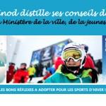 Marie Martinod est ambassadrice de la campagne Prévention Hiver du ministère des Sports.