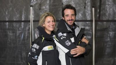 Servane Escoffier et Louis Burton, un couple sur la Transat Jacques Vabre 2017
