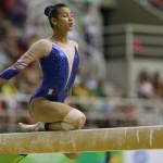 Marine Boyer (ci-dessus) s'est qualifiée pour la finale du Concours Général des Mondiaux 2017 de gymnastique avec sa compatriote Mélanie De Jésus Dos Santos.