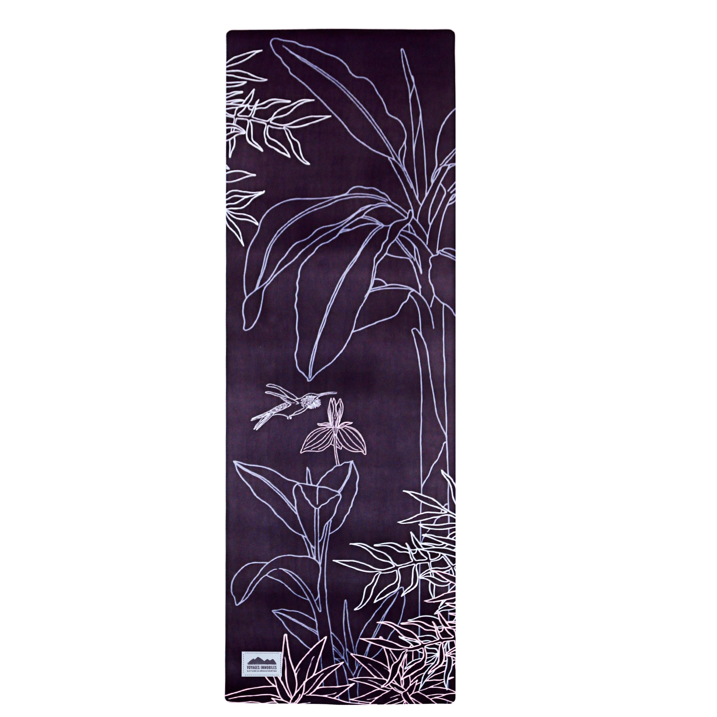 tapis de yoga fleuri