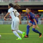 Women's Champions League between FC Barcelona against Rosengard, quarterfinals, at the Mini Estadi in Barcelona, Spain, Wednesday March 30, 2017