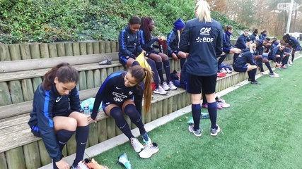 Equipe de France Féminine : échauffement avec les Bleues