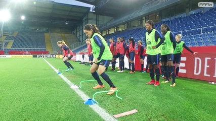 Equipe de France Féminine : Frappes et exercices de vivacité avant Allemagne-France