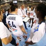 Les Françaises doivent désormais affronter la Roumanie, la plus forte des équipes de la poule. © FF Handball / S. Pillaud