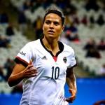 La saison dernière, Dzsenifer Marozsan a réalisé le triplé avec l'OL : D1 Féminine, Coupe de France et Ligue des Champions. © Ann Odong