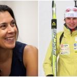 La Française Marion Bartoli (à gauche) a annoncé son retour à la compétition après plus de quatre ans de retraite sportive ; tandis que la Slovène Teja Gregorin (à droite), contrôlée positive à un stéroïde anabolisant, a été disqualifiée des Jeux de Vancouver de 2010.