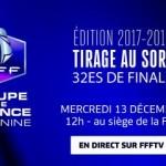 Coupe de France Féminine : Tirage des 32es de finale, mercredi 13 décembre à 12h00 !