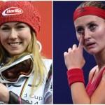 La skieuse américaine Mikaela Shiffrin (à gauche) a débuté la nouvelle année par une victoire, la 5e cette saison ; en revanche, la Française Kristina Mladenovic (à droite) a poursuivi sa série noire de défaites avec une 13e élimination d'entrée de jeu. L'année 2018 aurait pu mieux commencer...