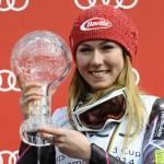 C'est la deuxième année consécutive que l'Américaine Mikaela Shiffrin est sacrée meilleure skieuse de la saison.