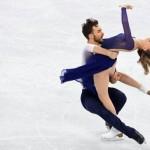 En une de la newsletter Women Sports du mardi 20 février 2018 : le coupe de patineurs français Gabriella Papadakis et Guillaume Cizeron, en argent en danse sur glace.