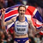 Laura Muir a décroché deux médailles aux Mondiaux de Birmingham après un interminable périple pour rejoindre la compétition. © Action Plu / Panoramic.