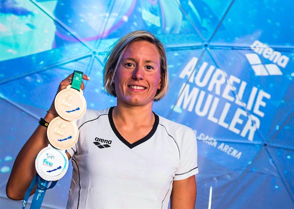 Aurélie Muller : « Sport et études : on ne peut pas être à 100% sur les deux »
