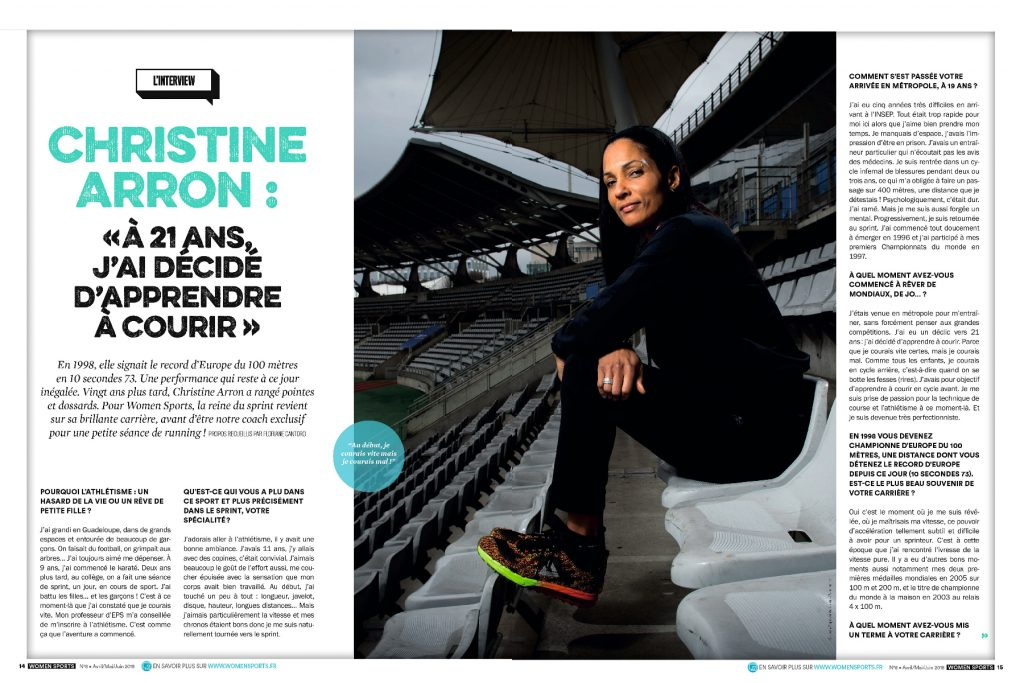 Christine Arron : «À 21 ans, j'ai décidé d'apprendre à courir ». © Jean-Baptiste Autissier / Panoramic.