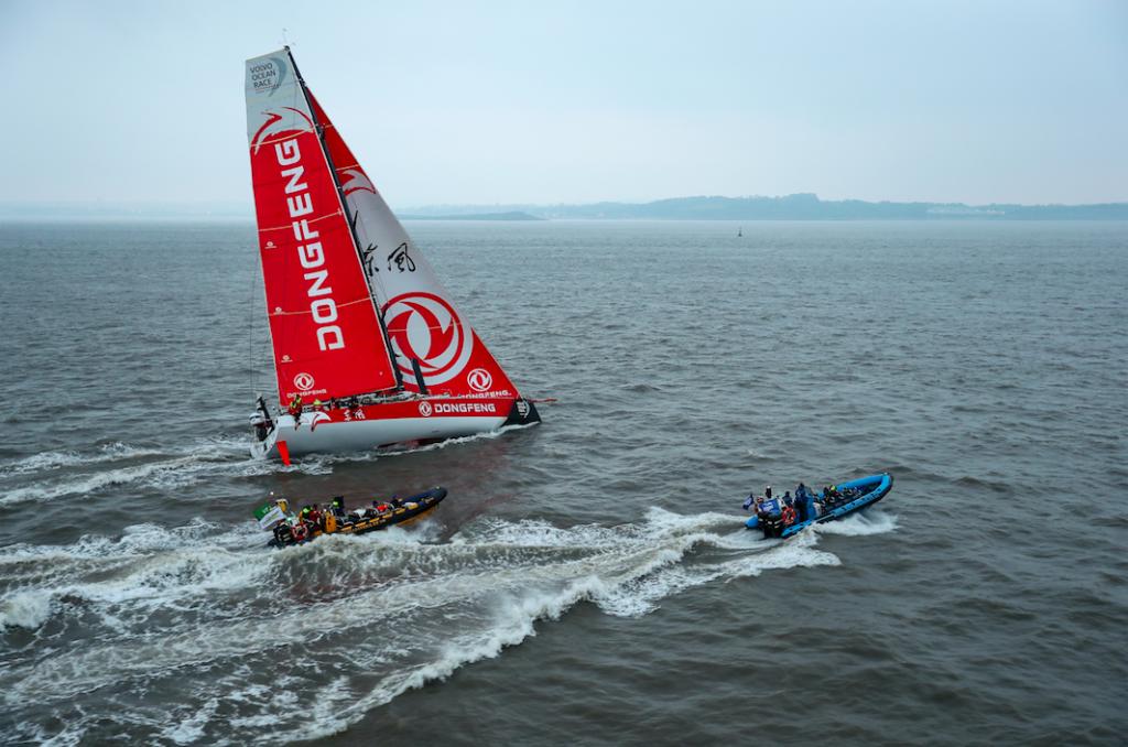 À bord de Dongfeng : une troisième place et le leadership à Cardiff