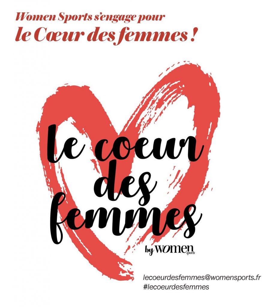 Women Sports a lancé le mouvement #LeCoeurDesFemmes pour lutter contre les maladies cardiovasculaires, première cause de mortalité chez les femmes.