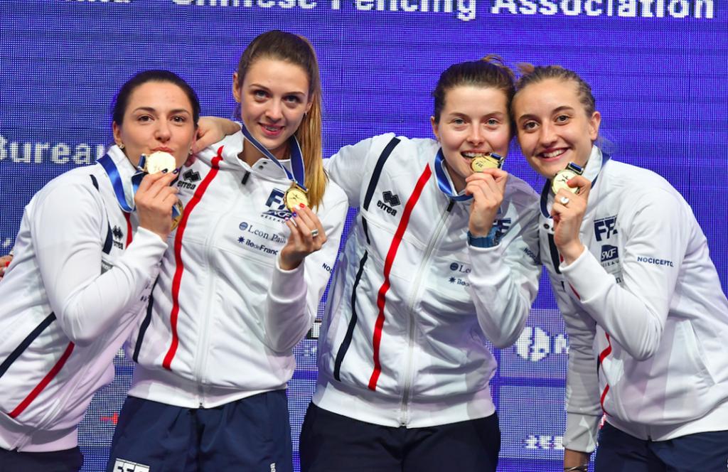 Les sabreuses françaises sacrées championnes du monde