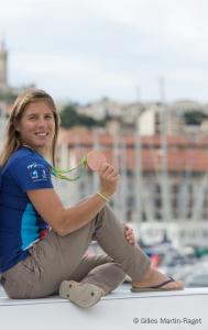 Camille Lecointre et sa coéquipière Hélène Defrance avait remporté la médaille de bronze aux Jeux Olympique de Rio 2016 en voile 470. Crédit photo : DR/.