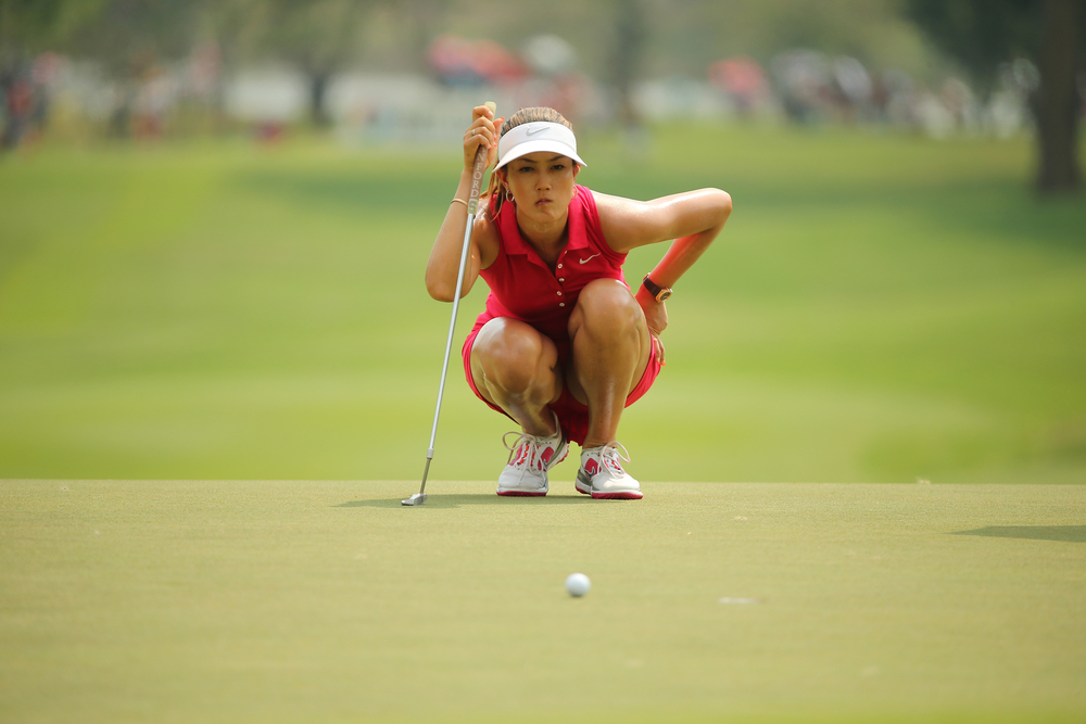Michelle Wie a joué sur le green avec les hommes. © Pal2iyawit / Shutterstock.com