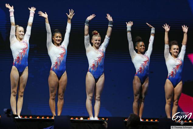 Les gymnastes françaises en argent à l'Euro