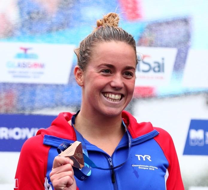 Lara Grangeon en bronze sur 25 km en eau libre