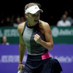 Après sa défaite face à Pliskova dimanche en ouverture du Masters 2018 de Singapour, la Danoise Caroline Wozniacki s'est relancée dans la compétition.