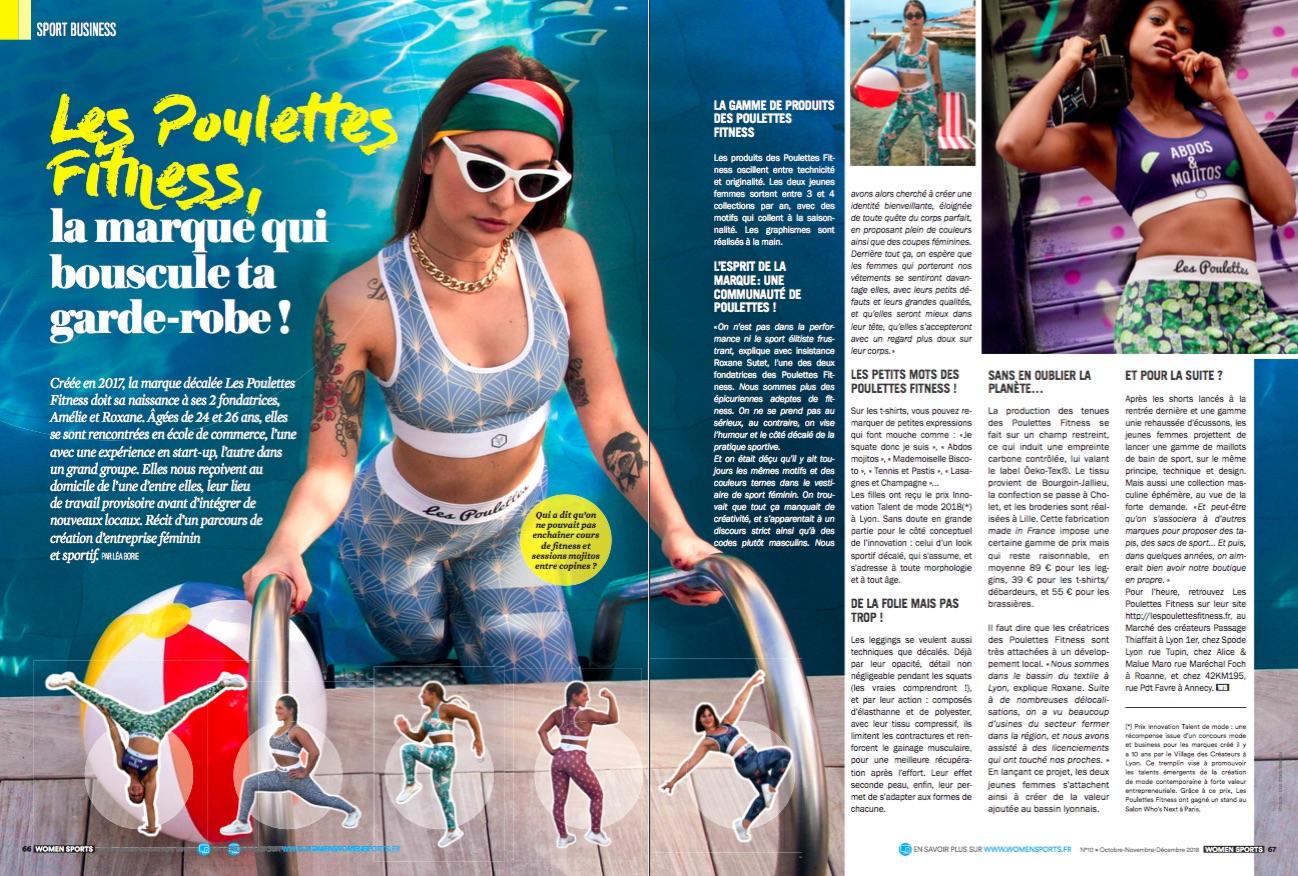 Les Poulettes Fitness, c'est une marque de vêtements de sport lyonnaise qui dépote. Récit d'un parcours de création d'entreprise féminin et sportif !