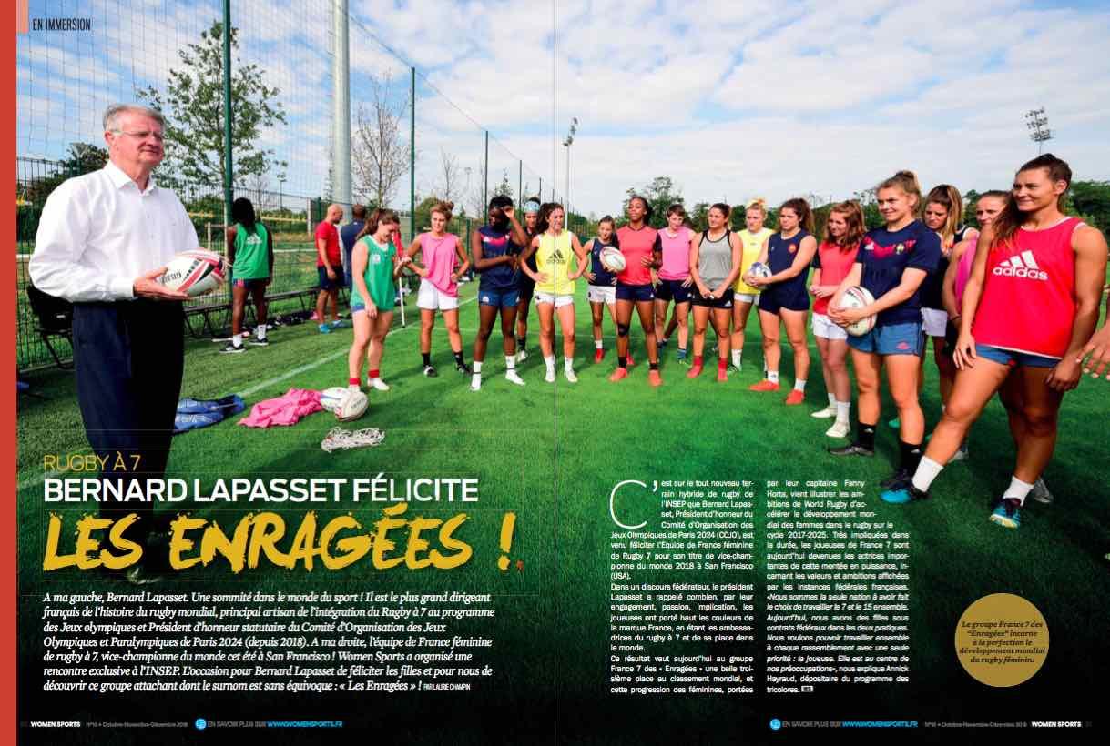 Bernard Lapasset, ex-président de la FFR et principal artisan de l'intégration du Rugby à 7 au programme des JO nous parle de l'équipe de France 7 Féminine.
