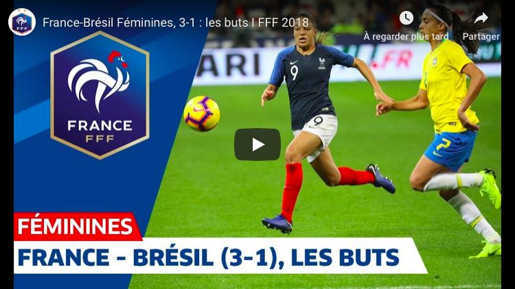 Équipe de France : (re)voir la victoire des Bleues face au Brésil