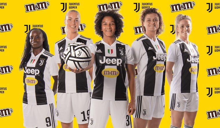 M&M's sponsor de l'équipe féminine de la Juventus