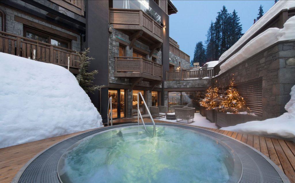 spa courchevel neige